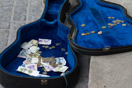 Online Busking Tip Money