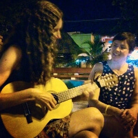 Nicole and Krisit Jamming