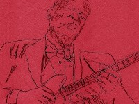 BB King drawing by Clifty